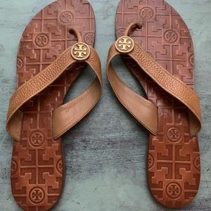 TORY BURCH MANON THONG SANDAL BROWN SIZE 9